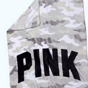 Victorias Secret pink throw grey camo 50x60 NWT